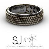 Solitaire Jewellery - Solitaire Jewellery & Alex Khanjian - SJ & AK - Custom Black Diamond & Yellow Gold Ring